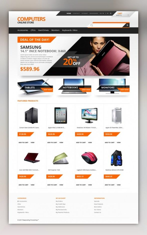 Responsive computers store prestashop theme web design pinterest responsive computers store prestashop theme e commerce templates prestashop themes computers internet computers templates computer store templates cheaphphosting Images