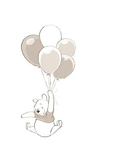 Winnie the Pooh Wandsticker | Disney | Zeichnungen, Pooh bär und ...