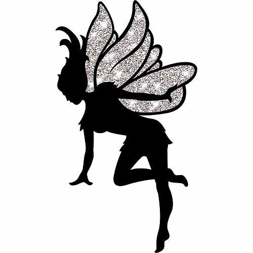 graphic regarding Fairy Silhouette Printable referred to as 6 Least complicated Illustrations or photos of Fairy Slash Out Printables - Fairy Silhouette