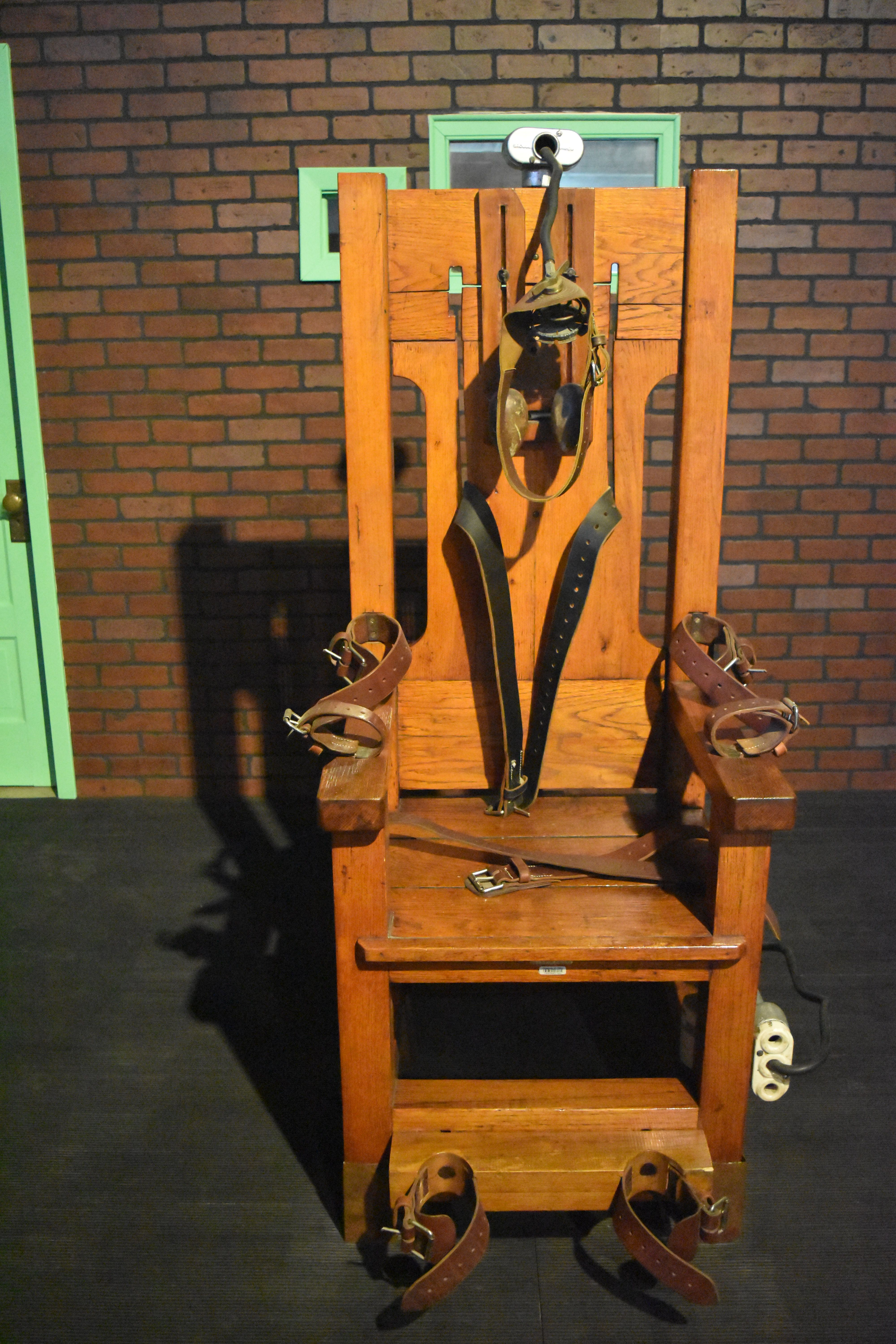b18f9ffd360a63 Old Sparky used in 361 executions, resides at the Texas Prison Museum along  with many other items of interest. Get stop and inexpensive.491 TX-75, ...