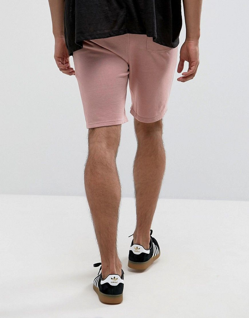 4d773d57833 ASOS Jersey Skinny Shorts 2 Pack Charcoal Marl  Pink SAVE - Multi