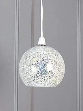 Zara irridescent crackle glass dome pendant