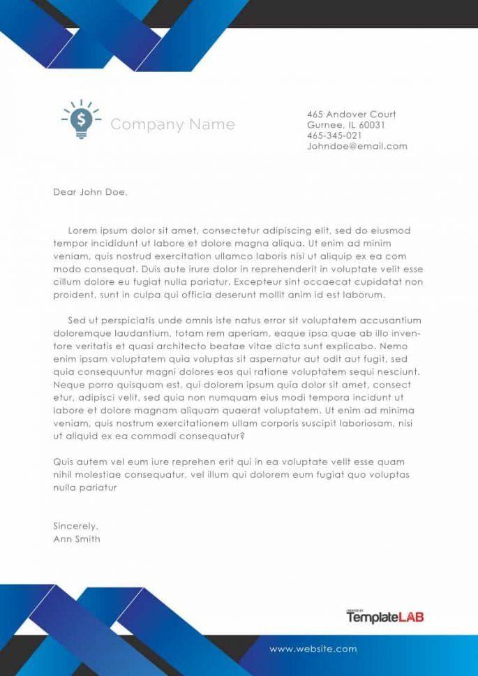 Company Letterhead Template   Templatelab Exclusive  Pandit