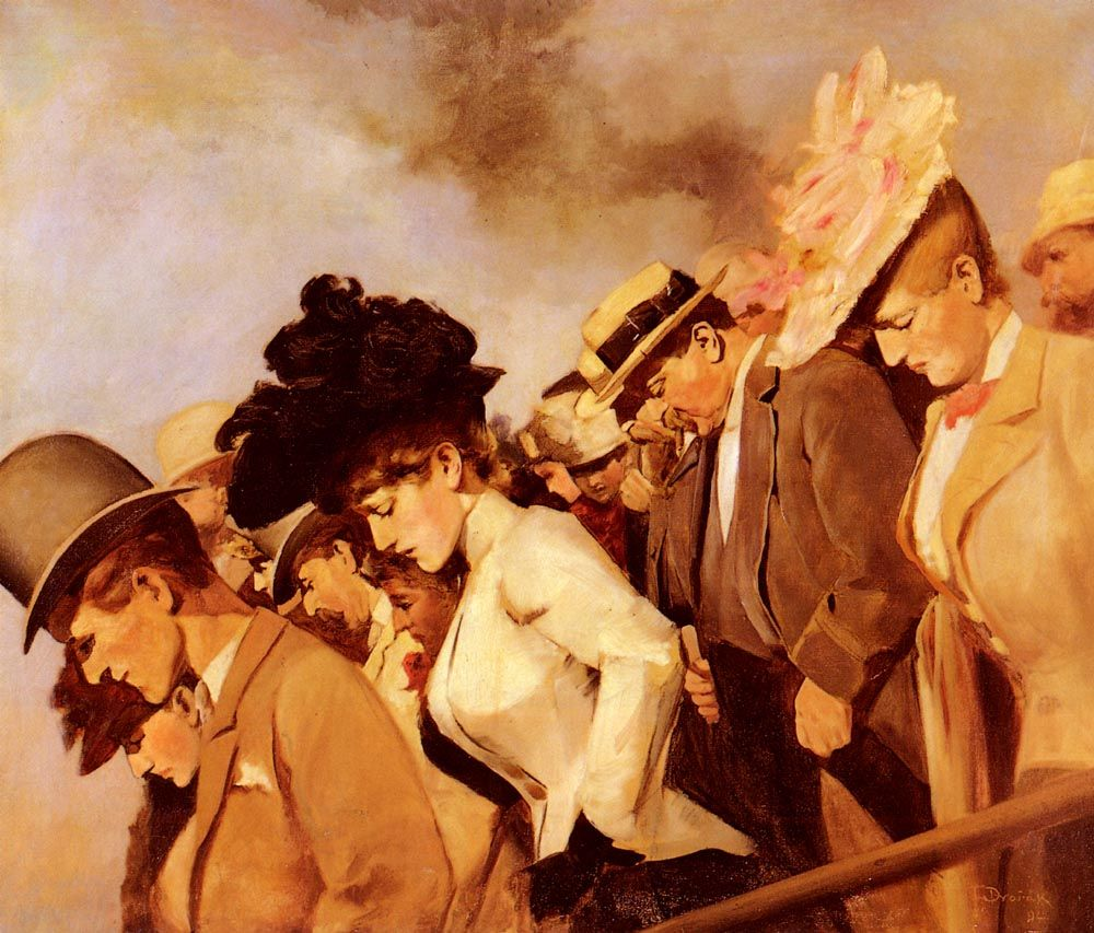Franz Dvorak Frantisek Dvorak At The Races 1892 Source My