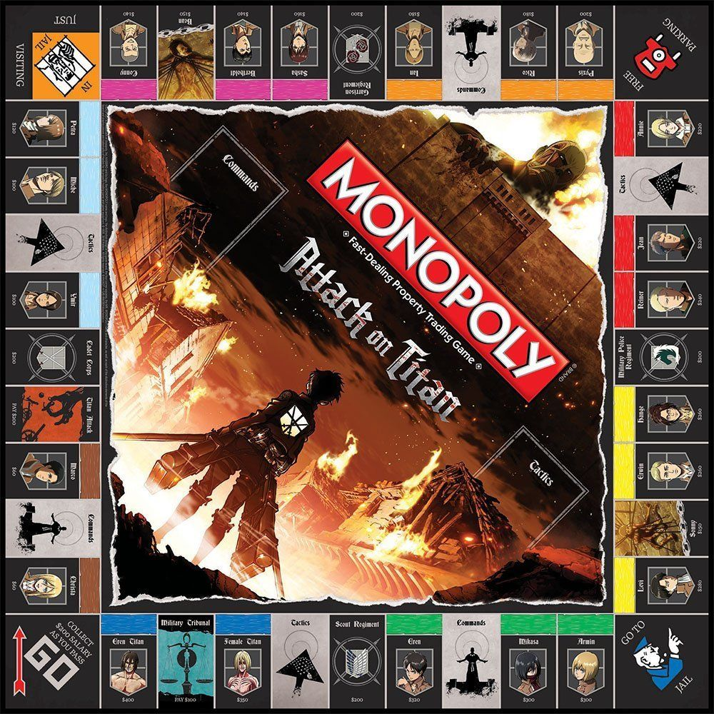 attack on titan monopoly attack on titan pinterest attack on