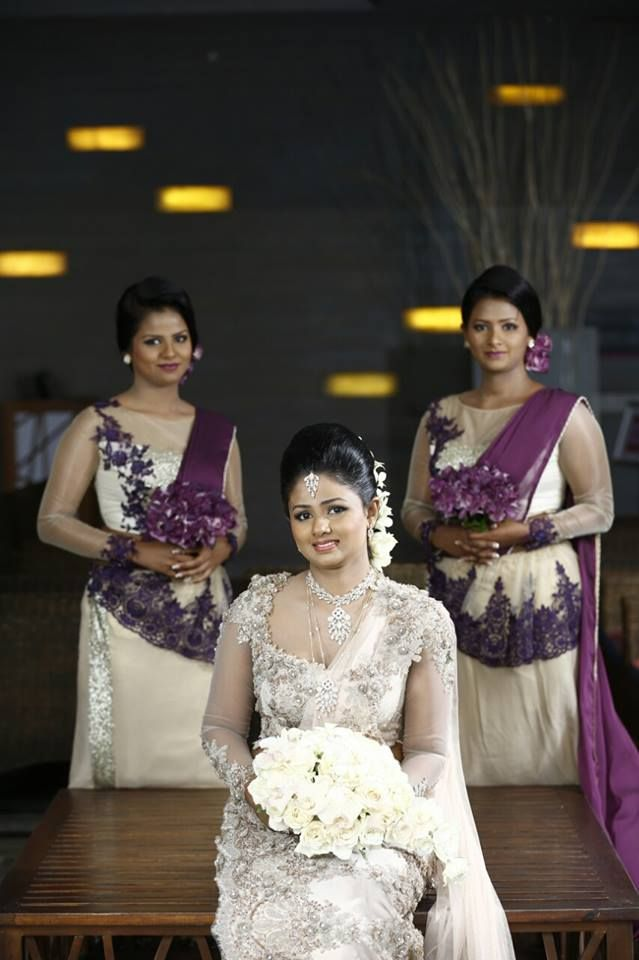 Ibride By Indi Bridal Designer On Instagram Srilankan Bridal Kandyan Madeup And Fitted Brides Dresses And Sare Wedding Saree Indian White Bride Bridal Beauty