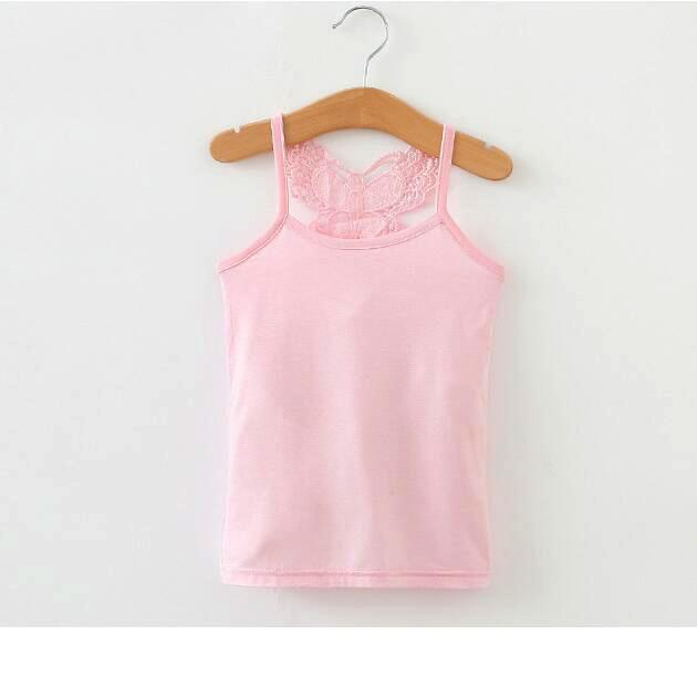 8874856a1 Lace Girls Shirts Cotton Girl Underwear Bow Tops