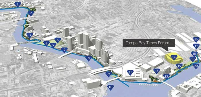 tampa riverwalk map living in tampa pinterest urban design