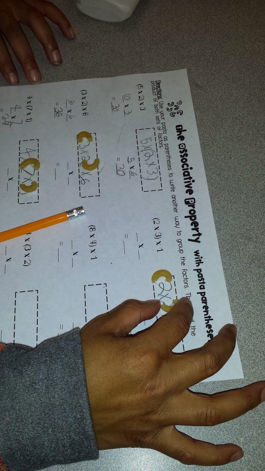 Third Grade BROWN-ies: Pasta Parentheses and a Freebie! | Math ...