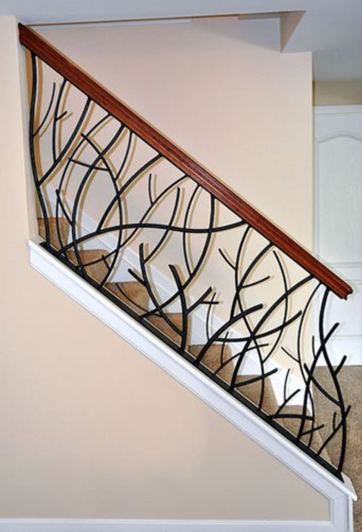 Pin By Architects On Grill Design Stairs Design Metal Stair Railing Staircase Railing Design
