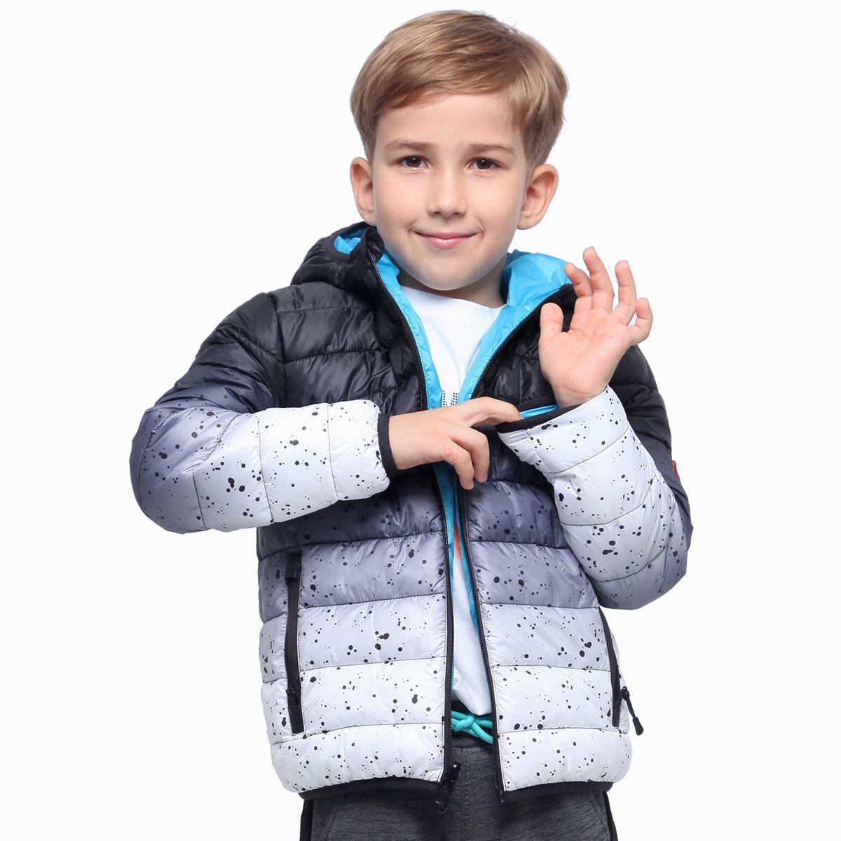 Boys Lightweight Padded Puffer Jacket Dark Grey Space Puffer Kids Outfits Outdoor Apparel [ 1200 x 1200 Pixel ]