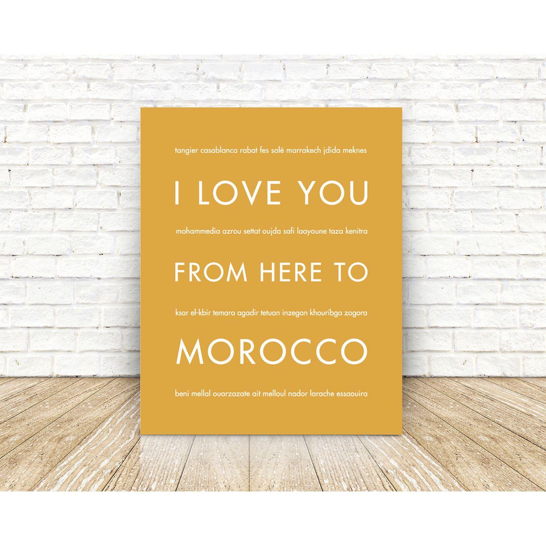 MOROCCO Travel Art Print | Gift Idea | Morocco, Unique wall decor ...