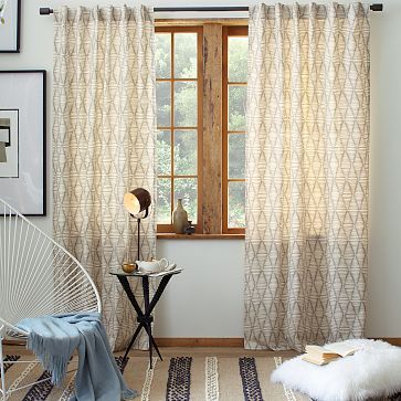 Cotton Canvas Printed Curtain  Koba #westelm