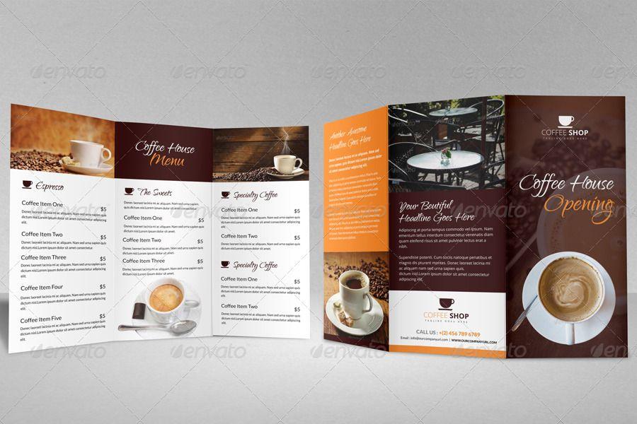Coffee shop brochure template | mycreativeshop.