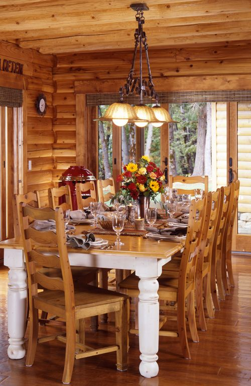 Like The Interior Of This Log Home Log Homes Log Home Interiors Rustic Kitchen