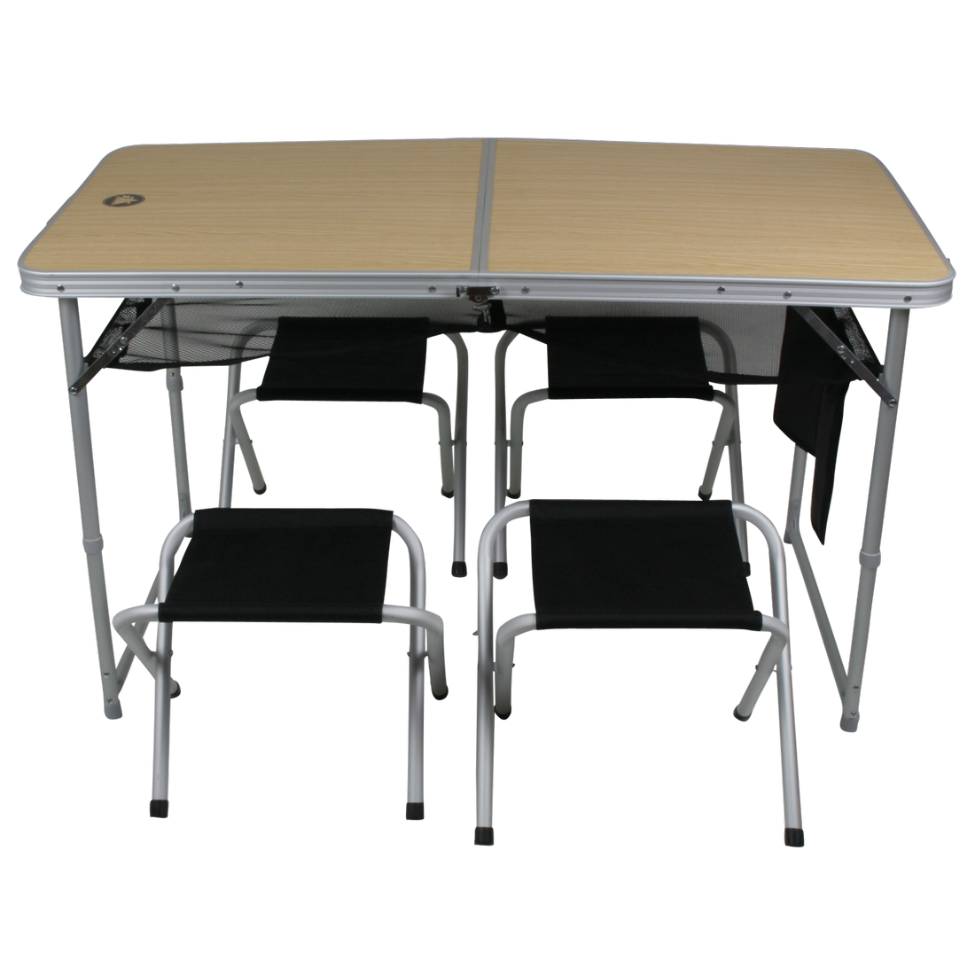 10t Portable Family Mobiles Tisch Hocker Set 4 Personen Aluminium Netz Ablagefache Im Koffer 64x64x9cm Kaufen Bei Spreen Onlin Mobiler Tisch Tisch Hocker