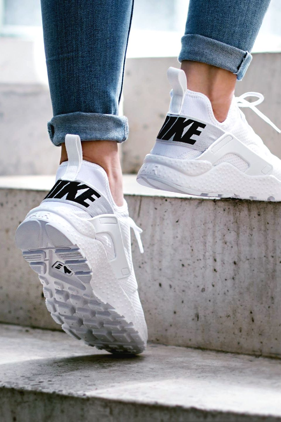 e9263d4443c6e Nike Wmns Air Huarache Run Ultra  White Black  (via Kicks-daily.com)
