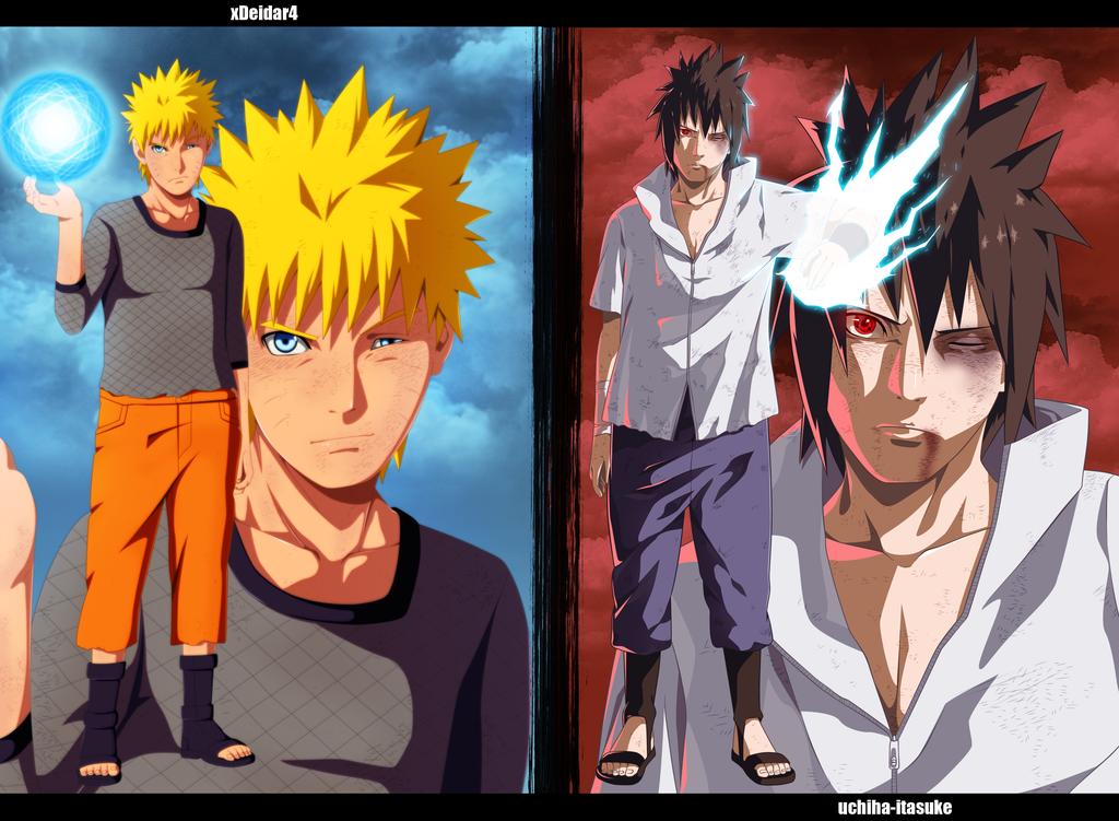 Naruto vs sasuke collab by uchiha itasuke naruto - Naruto as sasuke ...