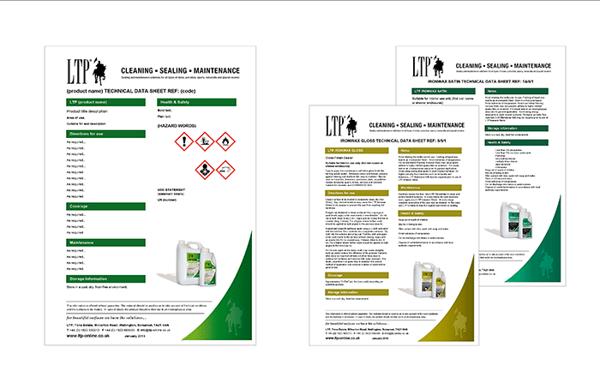 Ltp Technical Data Sheet Templates By Antony Cox Via Behance
