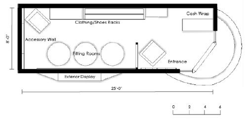 Pop-up shop Floor Plan