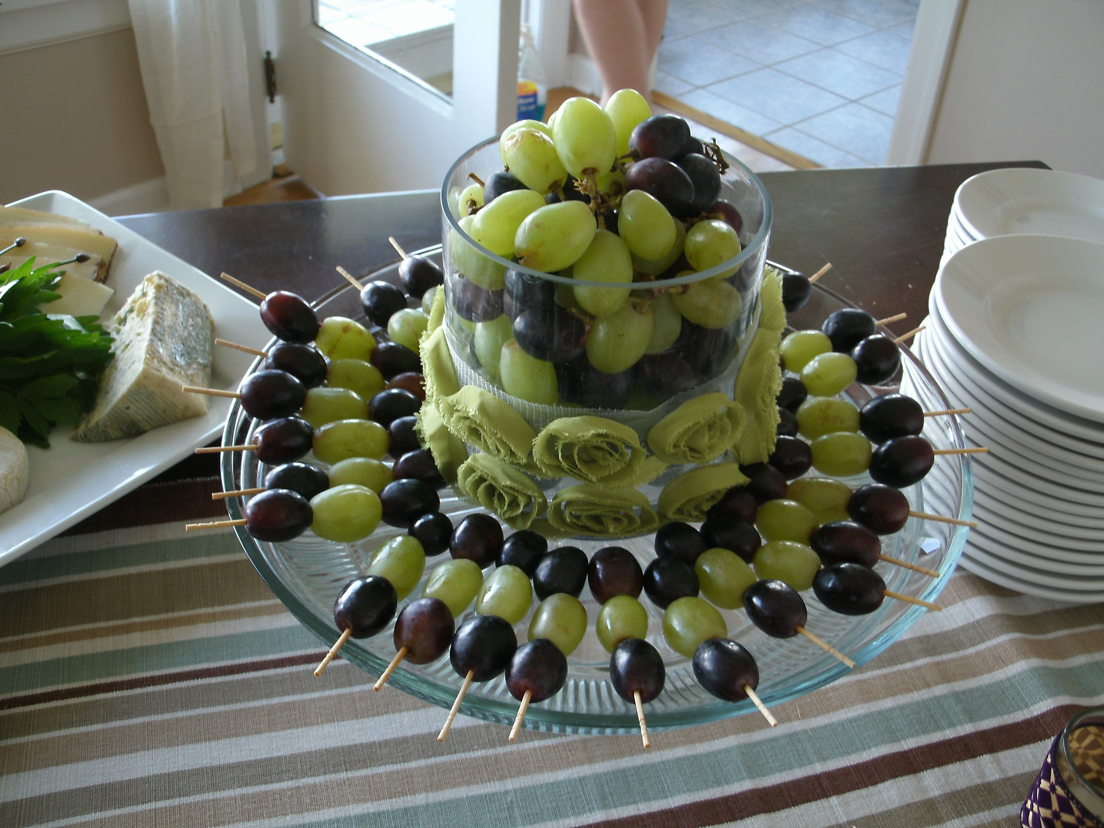 Purple And Green Grape Skewers--For Shower Maybe Purple -5479