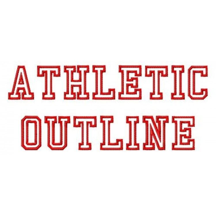 Athletic Outline embroidery font | Embroidery Fonts | Embroidery