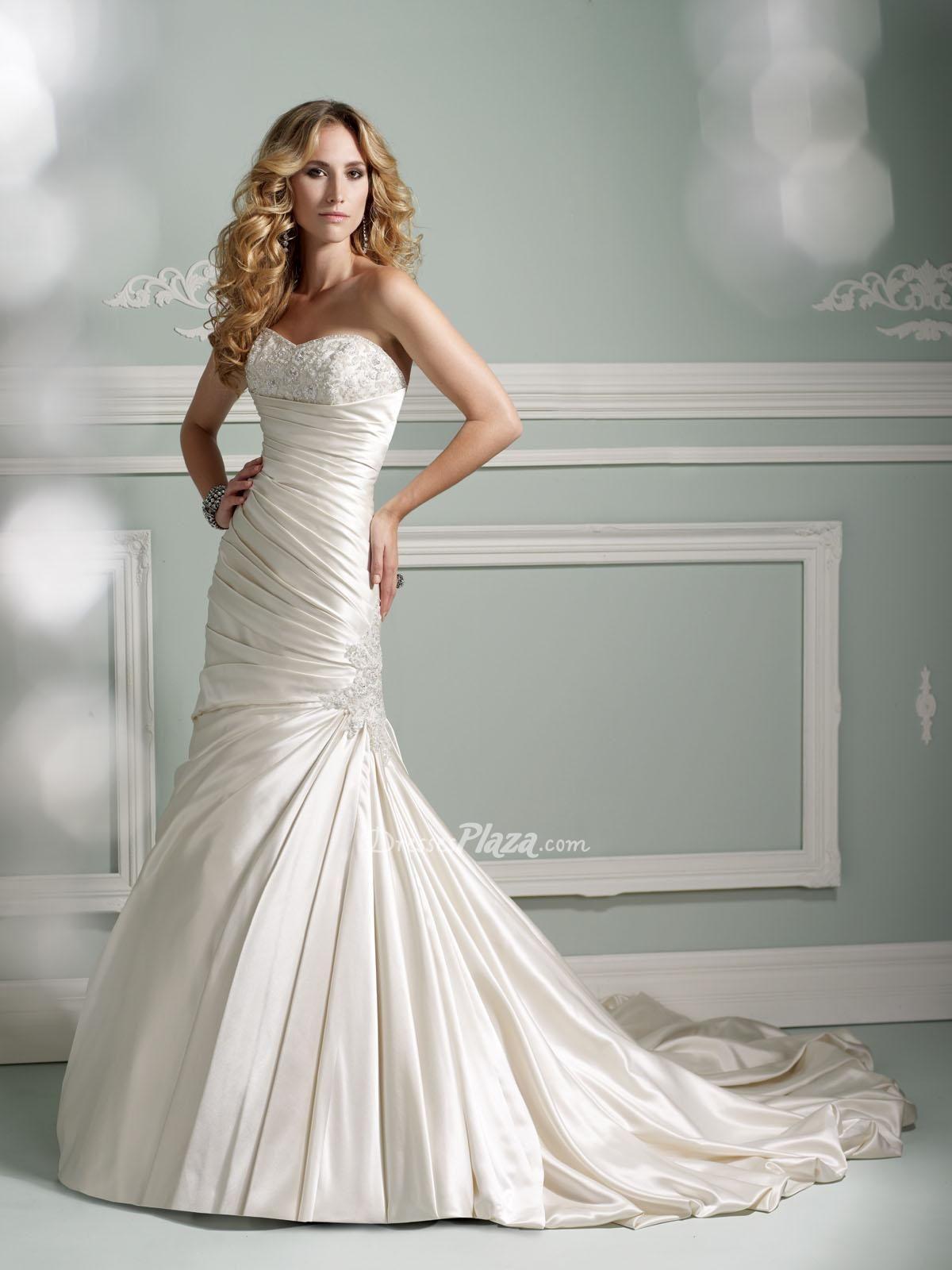 Strapless mermaid wedding dress from satin marry me pinterest