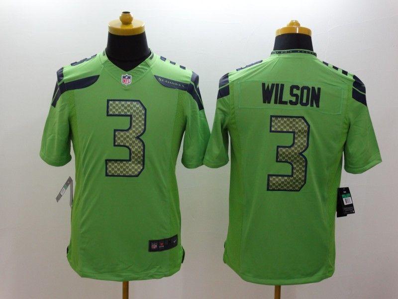 f99ba7e6e Seattle Seahawks 3 Wilson Green Nike Limited Jerseys