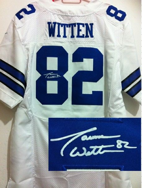 877a563bb02 Nike NFL Dallas Cowboys 82 Jason Witten White With Hall of Fame 50th Patch  Men Stitched Elite Signed Jersey $22.99