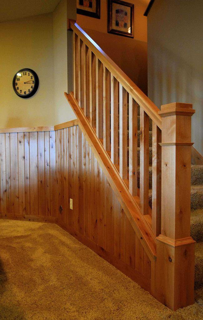 Knotty Alder Stair Railing Google Search Stair Banister Wood | Knotty Alder Stair Railing | Distressed | Diy | Interior | Indoor | Wood