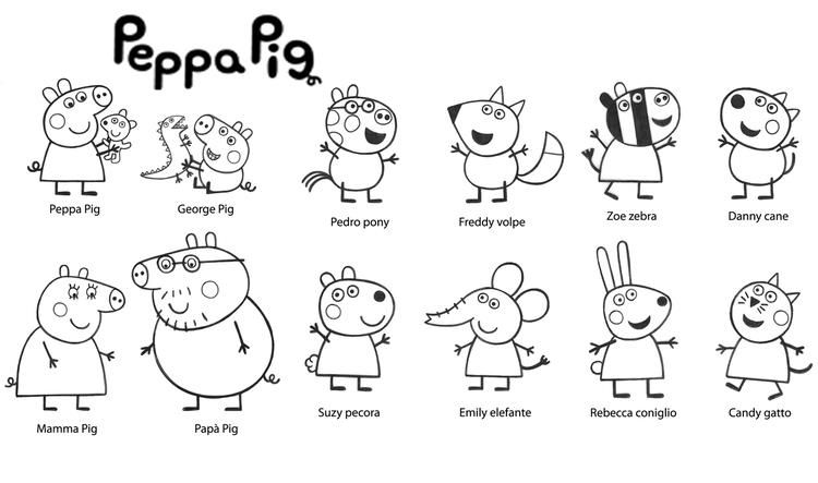 Peppa Pig And Friends Coloring Pages Printable Peppa Pig Coloring Pages Peppa Pig Colouring Peppa Pig Printables