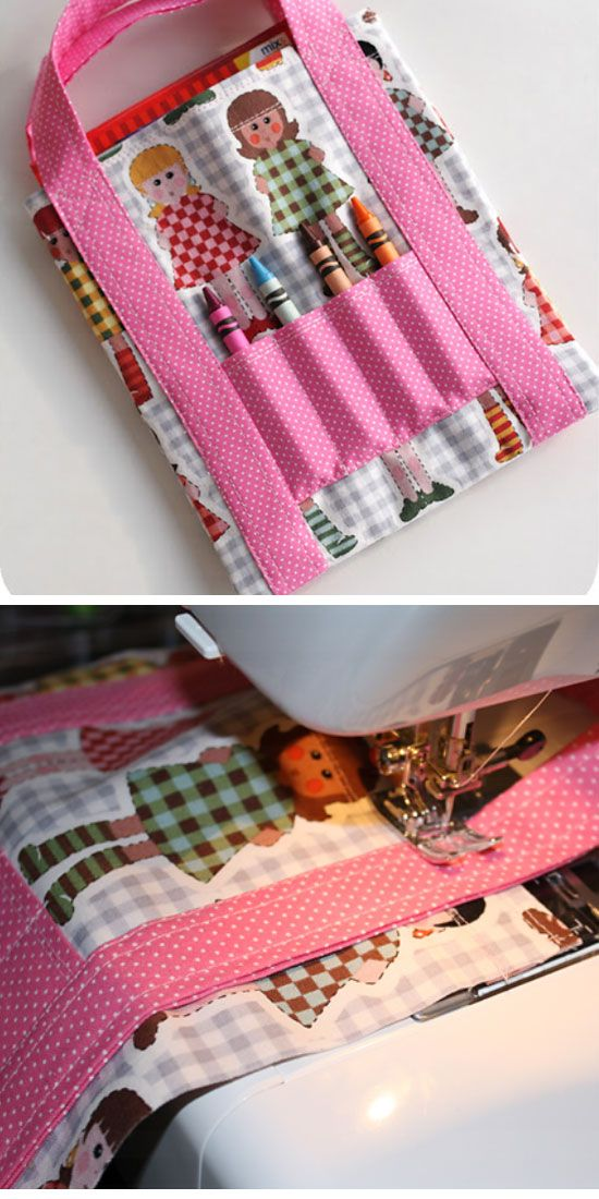Mini Coloring Tote Click Pic for 18 DIY Christmas Gift Ideas for