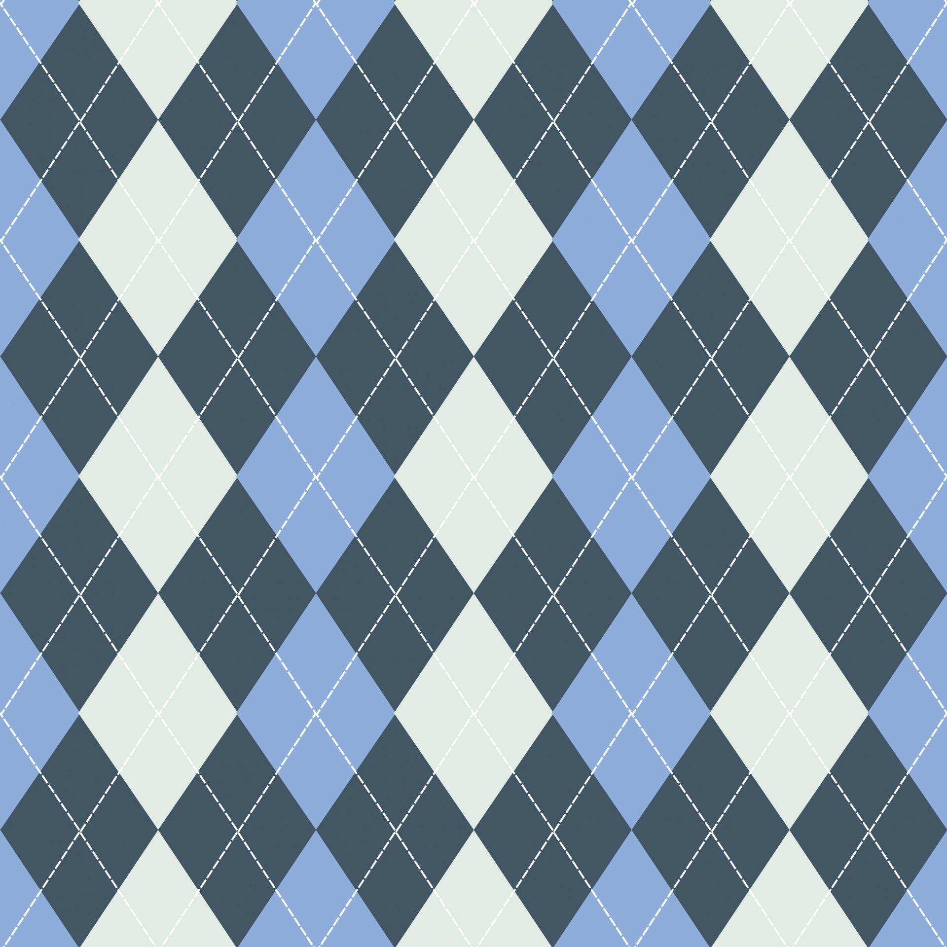 Argyle Pattern Background Blue Free Stock Photo (With