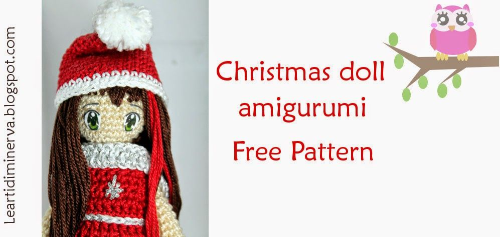 MaryJ Handmade: Bambolina Amigurumi   Christmas doll amigurumi ...