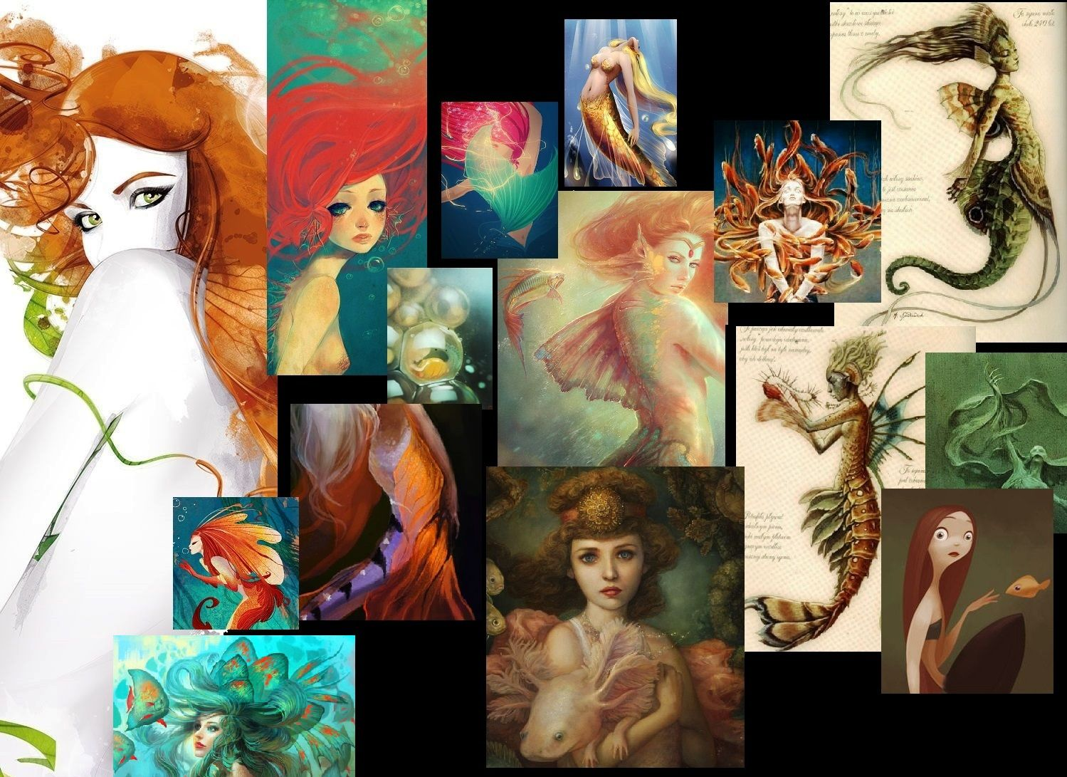 Sfondo Wallpaper Sirene Mermaid from me and Once upon a time