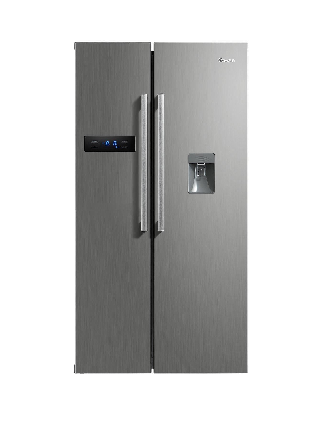 Sr70110s 89 5cm American Style Double Door Frost Free Fridge Freezer With Water Dispenser Silver In 2020 Double Door Fridge Double Doors Glass Fridge