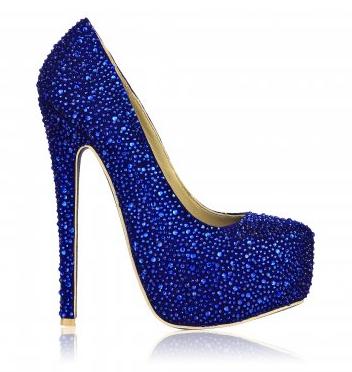 blue #wedding shoes