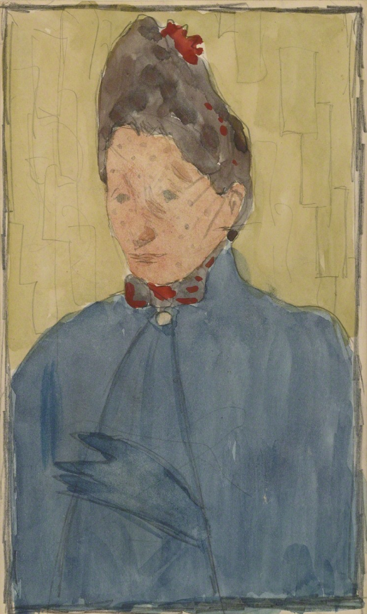 Pierre Bonnard (French, 1867-1947), Madame Eugène Bonnard, mère de l'artiste, 1889. Watercolor and pencil on paper, 12.8 x 8 cm.