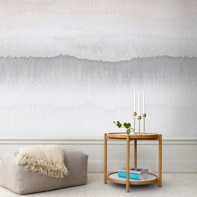 Zweifarbige Tapete In Grautonen Gryning Von Sandberg Walls