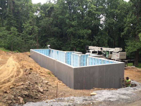 precast concrete and insulated