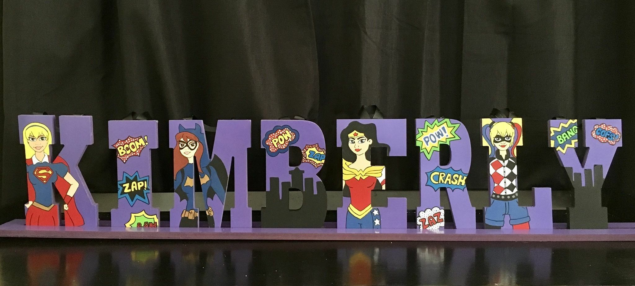 Cartoon Characters 8 Letters : 8 inch wooden letters superhero girls wood letters pinterest