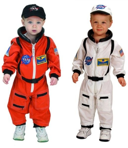 Toddler Astronaut Costume 18 month NASA White or Bright Orange - Toddler Astronaut Costume 18 Month NASA White Or Bright Orange