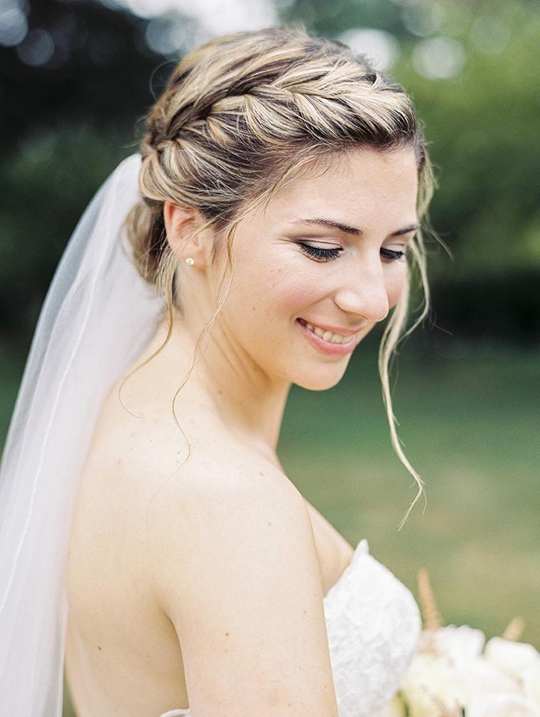 Hochzeitsfrisuren Geflochten Mit Schleier Einfache Frisuren