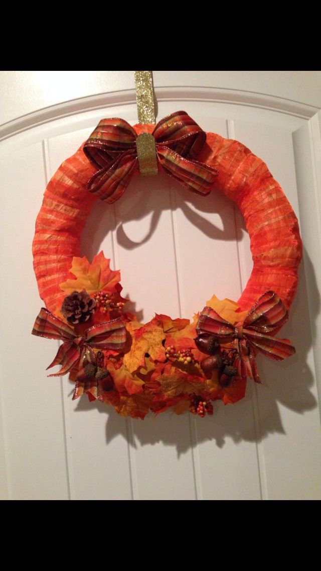 Fall wreath: Cute!
