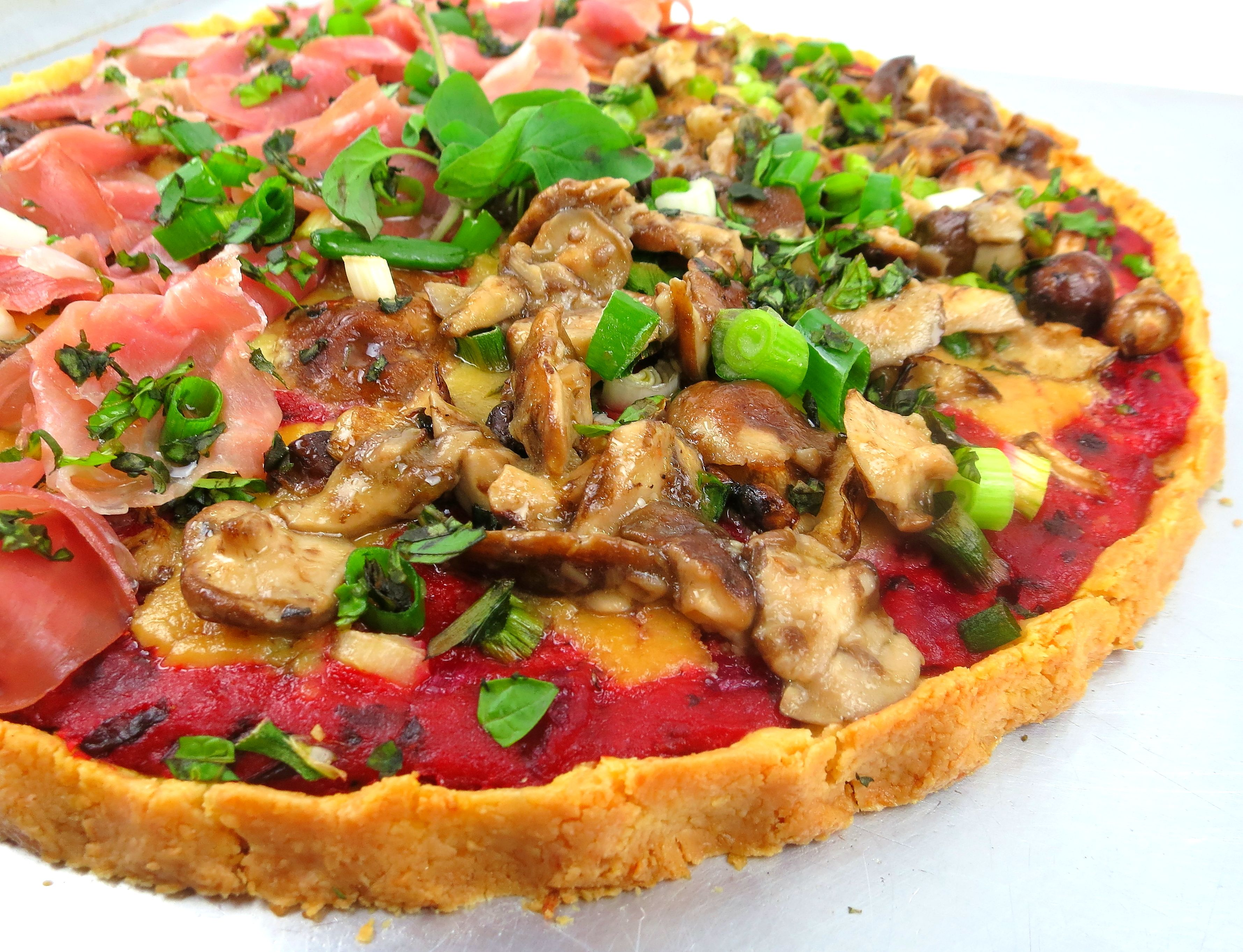 Build your own paleo pizza!
