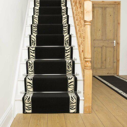 Best Barbosa Twist Pile Black Stair Runner Bloomsbury Market 400 x 300