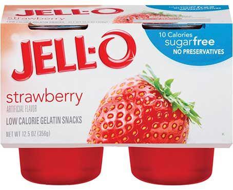 Strawberry Sugar Free Low Calorie Gelatin Snacks Sugar Free Sugar Free Snacks Snacks