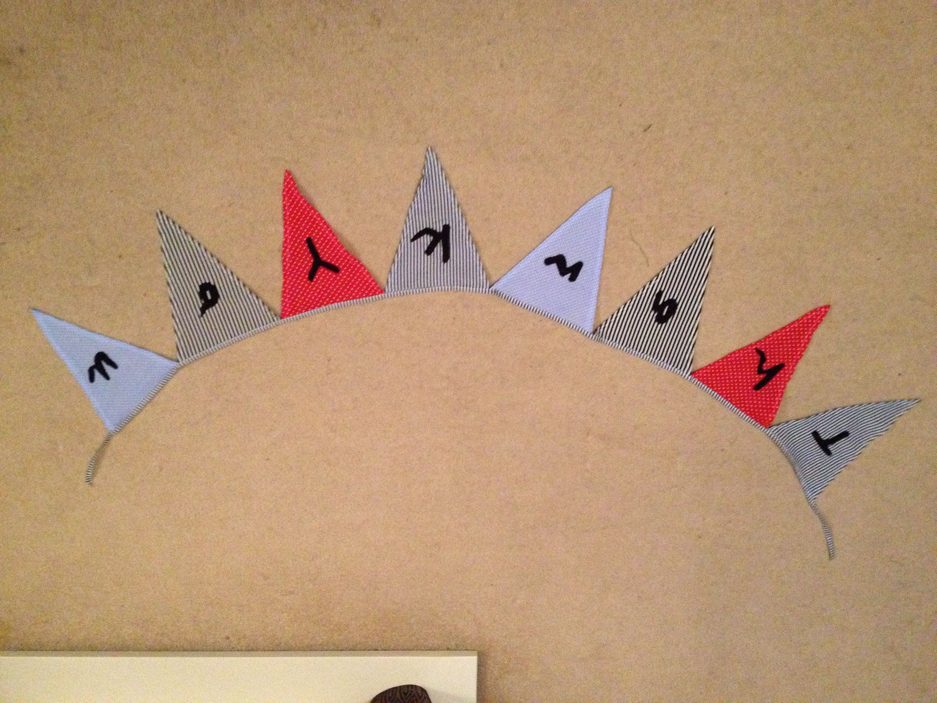 one of our 'Thank You' bunting designs for your thank you cards . . . . .  www.maiwillowevents.com