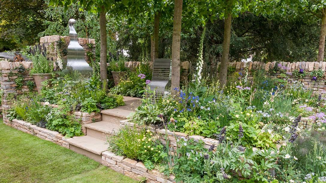 Delightful With Its Tiered Construction, Formal Layout And Central Arbour Of Trained  Lime Trees, This Romantic Garden U0027 The Poetry Lovers Gardenu0027, Features  Lavish ...
