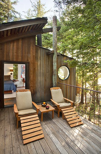Upper Butterfly Room Deck Post Ranch Inn Tree House Monterey Hotels